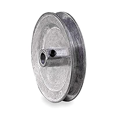 "V-Belt Pulley, 1/2""Fixed, 5""OD, Zamak3"
