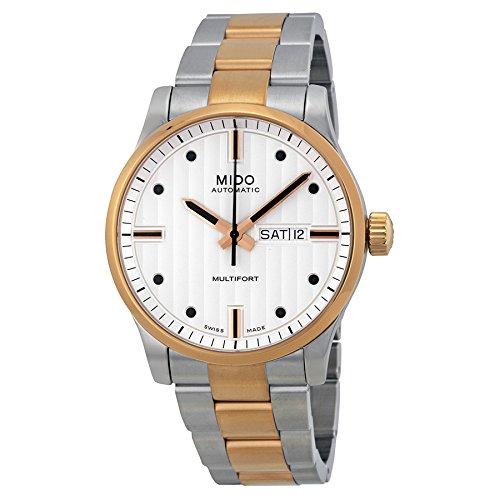 Mido Men's MIDO-M0054302203102 Multifort Analog Display Swiss Automatic Two Tone Watch