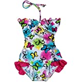 BAOHULU Girls Swimsuit 3-12 Years One-Piece Butterfly