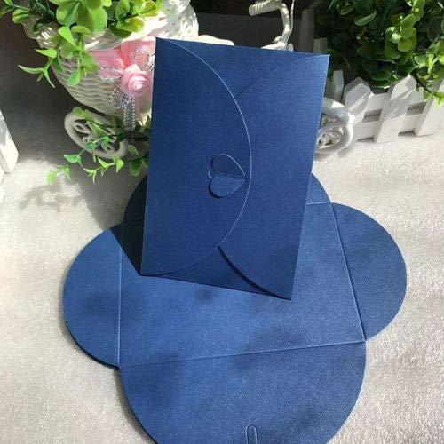 - Aircors 50 pcs/lot Fashion Retro Heart Shape Vintage Romantic Paper Envelop Gift for Wedding Invitation/Card Stationery - (Color: Dark Blue)