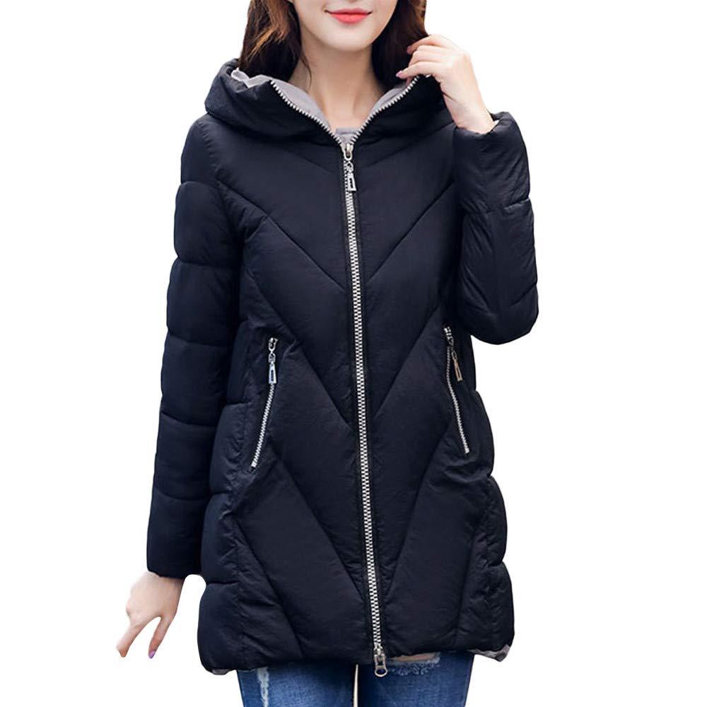 Seaintheson Women's Coats OUTERWEAR レディース B07HRF5G2V Medium ブラック ブラック Medium