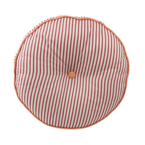 Waverly 15215016XRNDBER Retweet 16-Inch by 16-Inch Round Decorative Accessory Pillow, Berry