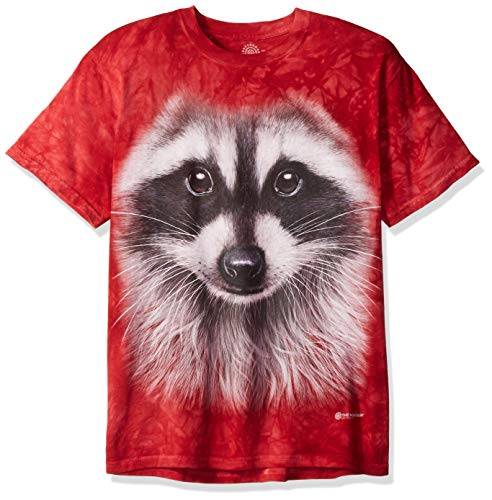 The Mountain Unisex-Adult's Raccoon Face, red, 5XL