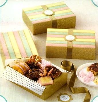 Amazon.com: Martha Stewart plegable Cajas de galletas con ...