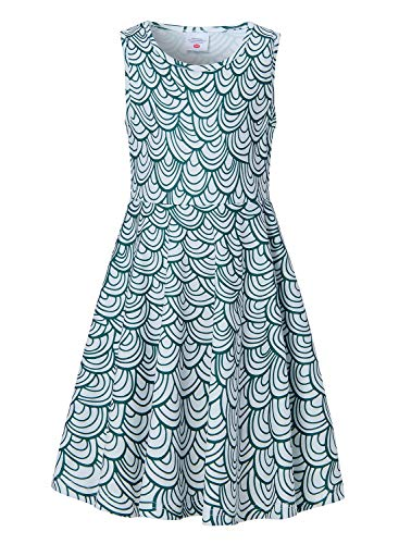 Fish Girl Fitted Shirt - uideazone Little Girls Casual Sleeveless Dresses 3D Printed Mermaid Midi Dress for Summer Beach School Party