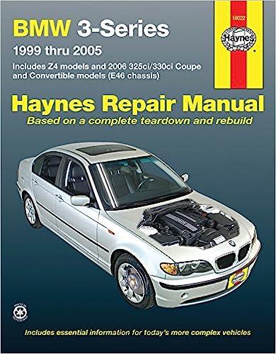 bmw 3 series 1999 2005 z4 325ci 330ci convertible haynes repair