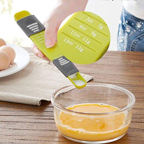 New Double-head Measuring Spoon Salt Sugar Coffee Adjustable Spoon Home (Hps Nozzle)