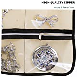 MISSLO Zippered Jewelry Organizer Hanging For