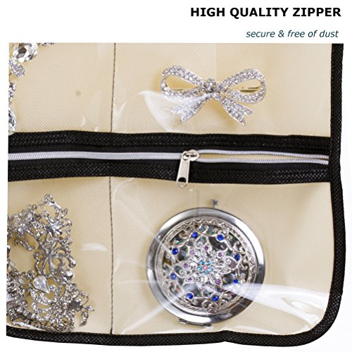Amazoncom MISSLO Zippered Jewelry Organizer Hanging For Travel