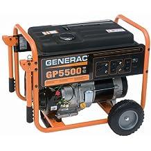 Generac 5975 GP5500 6,875 Watt 389cc OHV Portable Gas Powered Generator, CSA Compliant