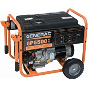 Generac 5975 GP5500 6,875 Watt 389cc OHV Portable Gas Powered Generator (CSA Compliant) (Discontinued by Manufacturer)