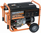 Generac 5945, 5500 Running Watts/6875 Starting Watts, Gas Powered...