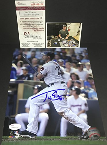 Travis Shaw Milwaukee Brewers Autographed Signed 8x10 JSA WITNESS COA