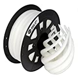 CCTREE 1.75mm PLA 3D Printer Filament - New Update Formula - Superior Than PLA on Market- 100% Virgin Raw Material - Accuracy ± 0.03mm - 1kg Spool (2.2lbs), White