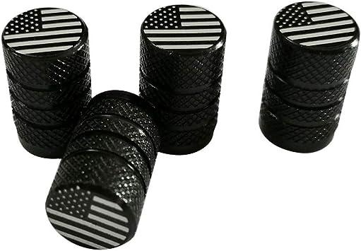 4pcs Anti-Theft Locking Air Dust Valve Caps Tires Rims Wheels America USA Flag