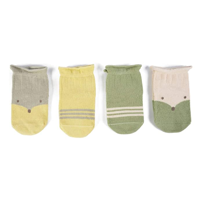 IKRR 4 Pares Babys Socks Calcetines para Bebes Niños Niñas Recién ...