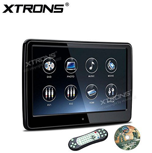 XTRONS 10.6 Inch TFT Touch Screen Car Headrest DVD Player 1080P Video Active IPS Screen 19201080 with HDMI Port (HD108THD_Black)