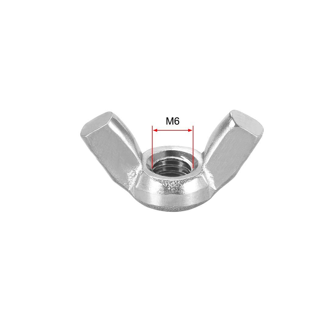 sourcing map M8 /écrous /à ailettes acier Inox 201 serrer main oreille Twist Papillon 5 Pcs