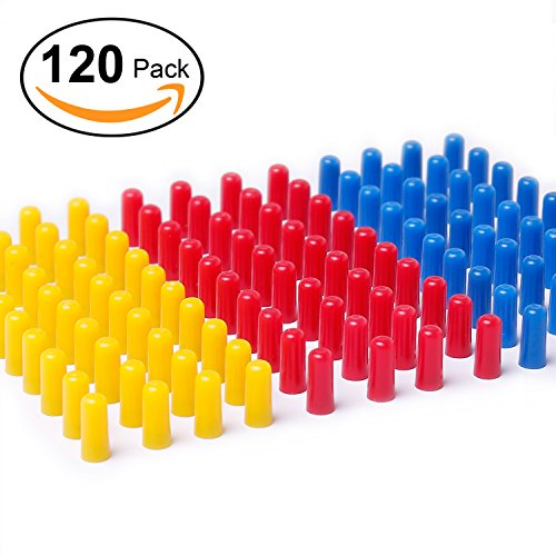 120 Pack Magnetic Map Push Pins in Assorted Colors ( 40 Each of Red,Blue,Yellow) , Ideal for Map,Whiteboard,Refrigerator & More! Assorted Map