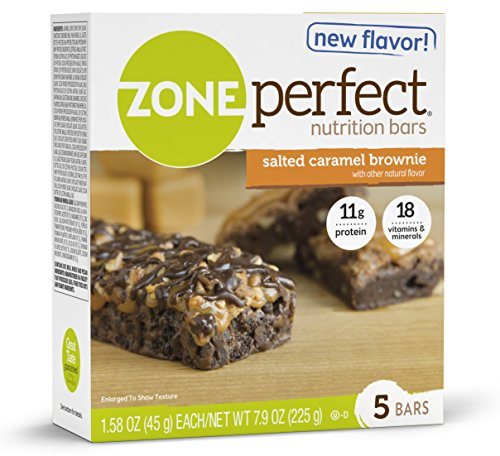 ZonePerfect Nutrition Snack Bars, Salted Caramel Brownie, 1.58 oz, (30 Count)