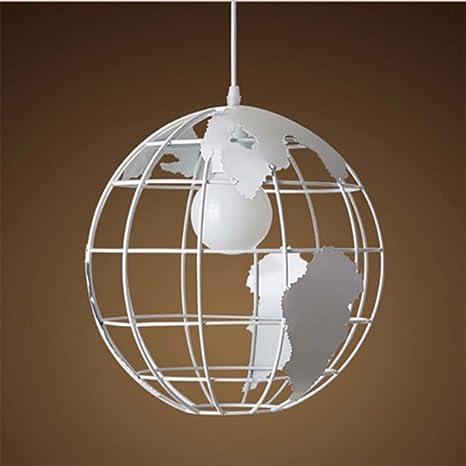 Luz del colgante del globo de Tellurion, SUN RUN Lámpara creativa del techo que cuelga la lámpara de la jaula del alambre del metal para los niños ...