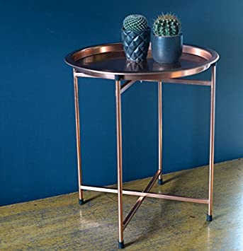 Bahne Homeart This Copper Tray Table Will Look Stunning In