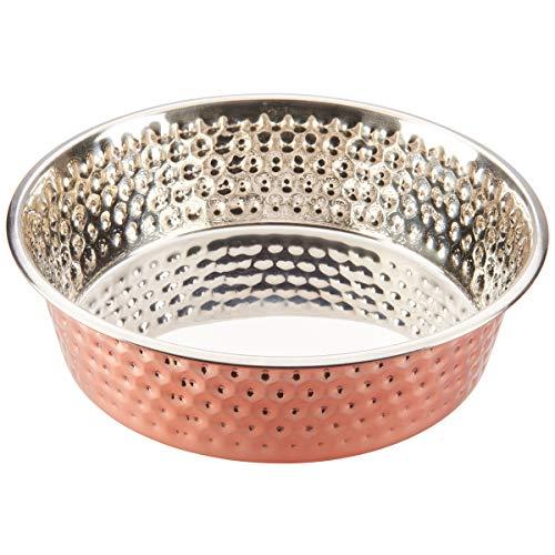 Ethical Pets Honeycomb Hammered Copper Dog Dish 3Qt ()