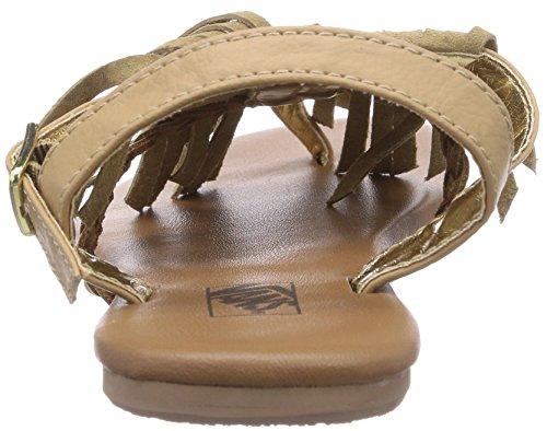 Vans KIHANA FRINGE - Sandalias de lona para mujer beige - Beige (Tan JM9)