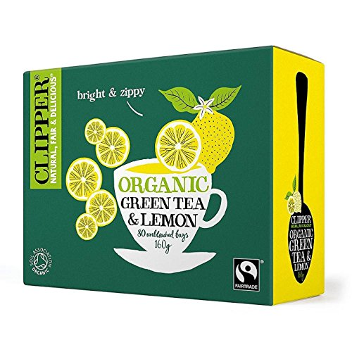 Clipper Green Tea & Lemon - Organic 80 Bags - Clipper Green Tea
