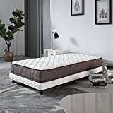 Baotian 8 Inch Bed Mattress Soft Touching Fabric Covering Pocket Spring Mattress Amercian California Bedroom Furniture Fire Resistant Design Compression Roll Packing Innerspring Mattress Twin Size