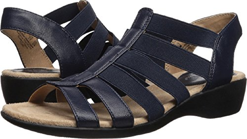 oni Flat Sandal, Navy, 9 M US (Lifestride Flexible Comfort Sandal)