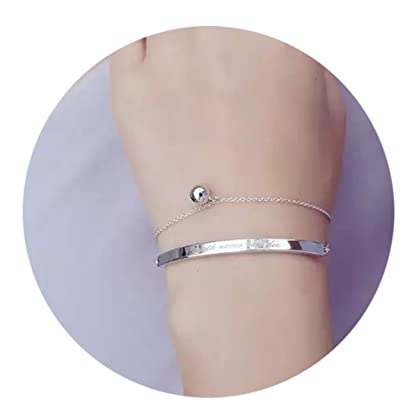 2064a53be7e DIDa Graduation Gifts Silver Bracelet for Women Adjustable Friendship  Bracelet