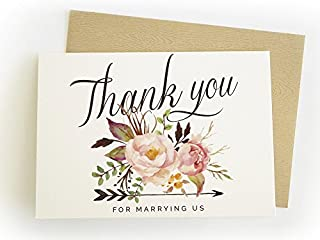 Thank you for marrying us - Single Wedding Card - For the officiant/pastor