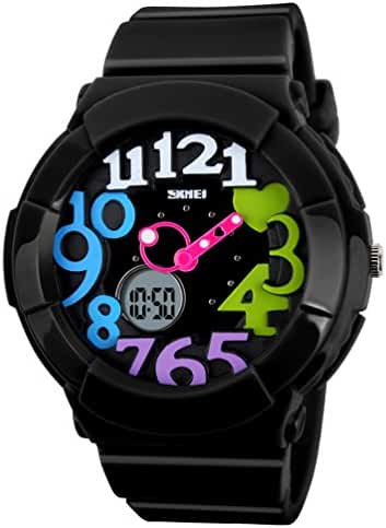 VIGOROSO Women's Girl Fashion Digital Analog Date Silicone Jelly Waterproof Sport Watch