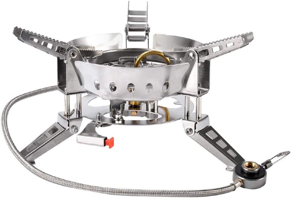 Enjoyyouselves Camping Gas Stove, Big Power Windproof Camping ...