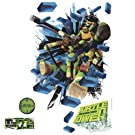 Roommates Rmk2284Slm  Teenage Mutant Ninja Turtles Brick Poster Peel And Stick Giant Wall Decal