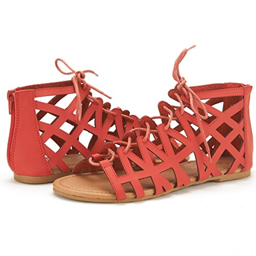 NEWD Blocking red Miller Sandals Flat Gladiator PAIRS Color Summer DREAM Women Buckle 5xZXfTq