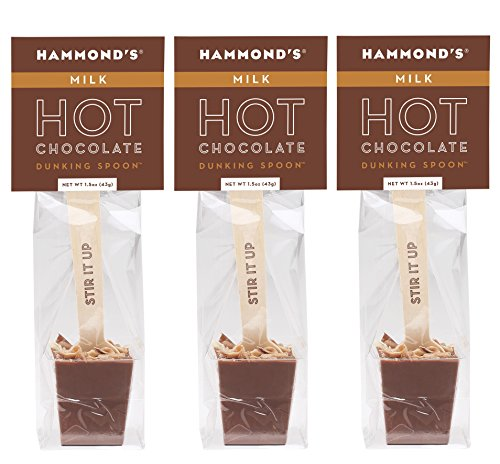 Hammond's Candies Hot Chocolate Dunking Spoons (Milk Chocolate, 3-Pack)