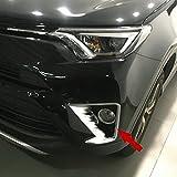 Beautost Fit For Toyota New RAV4 2016 2017 2018 Chrome Front Fog Light Lamp Cover Bezel Trims