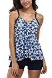 ALove Two Piece Swimsuits For Women Bathing Suits Ladies Swimwear Blue 10
