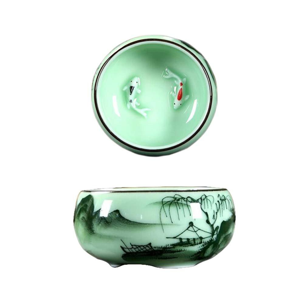 Tasse à thé en porcelaine chinoise, tasses à thé en kungfu Black Temptation