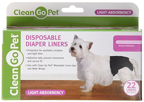 Clean Go Pet Light Disposable Diaper Liner, 22-Pack