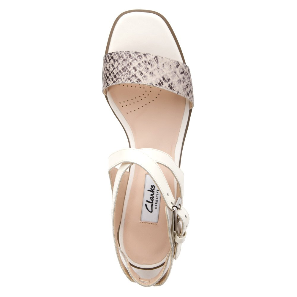 9267e6a0a Clarks Women s Ivangelie Ray Natural Snake Combi Leather 6 M  Amazon.co.uk   Shoes   Bags