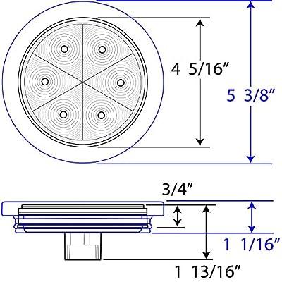 Optronics STL13RK Red Lens 4