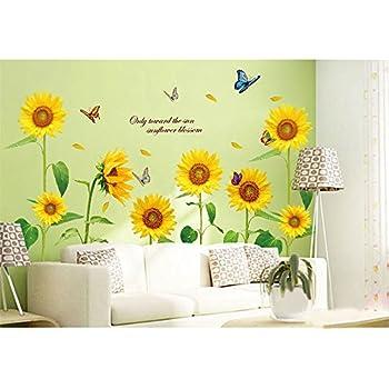 Amazon.com: docooler Sunshine Sunflower Butterfly Dancing in Summer ...