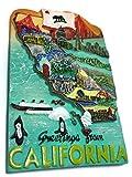 fridge magnet world - The Golden State USA Hollywood California Souvenir Collection 3D Fridge Refrigerator Magnet Hand Made Resin by Mr_air_thai_Magnet_World