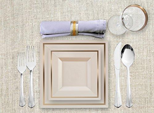 80 Parent & Upscale Disposable Dinnerware | Compostable Plates