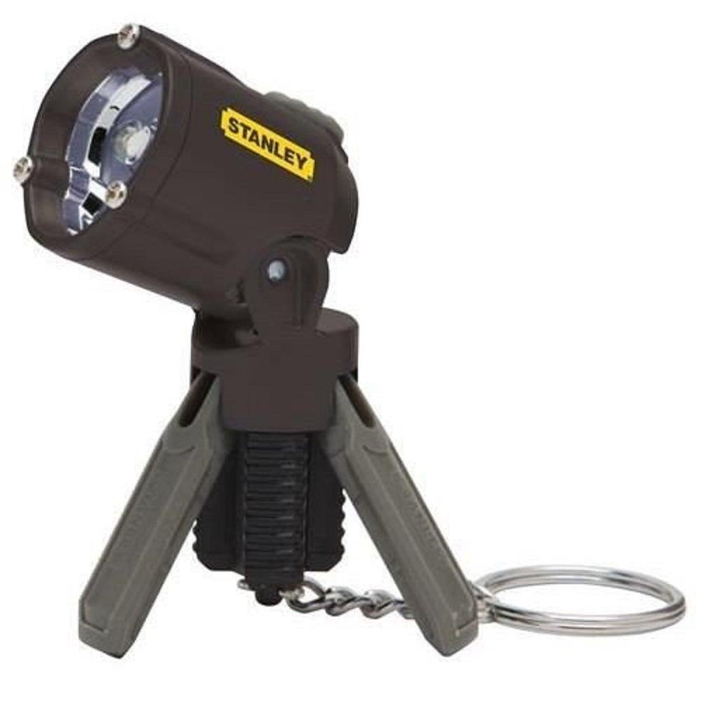 Stanley 0-95-113 Mini trípode llavero LED linterna, el color puede variar (pies de plástico acabado en cromo dorado) Stanley Black and Decker