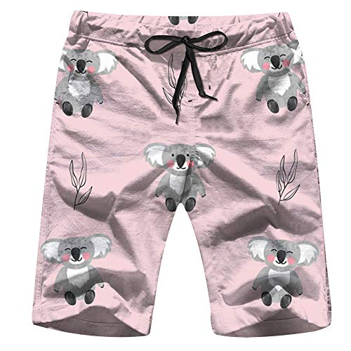 Halloween Cat Girls Autumn Mens Board Shorts Beach Lightweight Home Casual Shorts Swim-Trunks with Quick Dry L]()