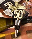 50th Anniversary Wine Bottle Stopper Favors (Set of 72)